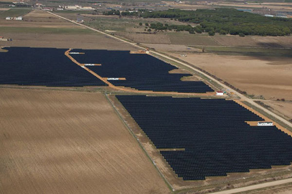 Aerial image of the installation