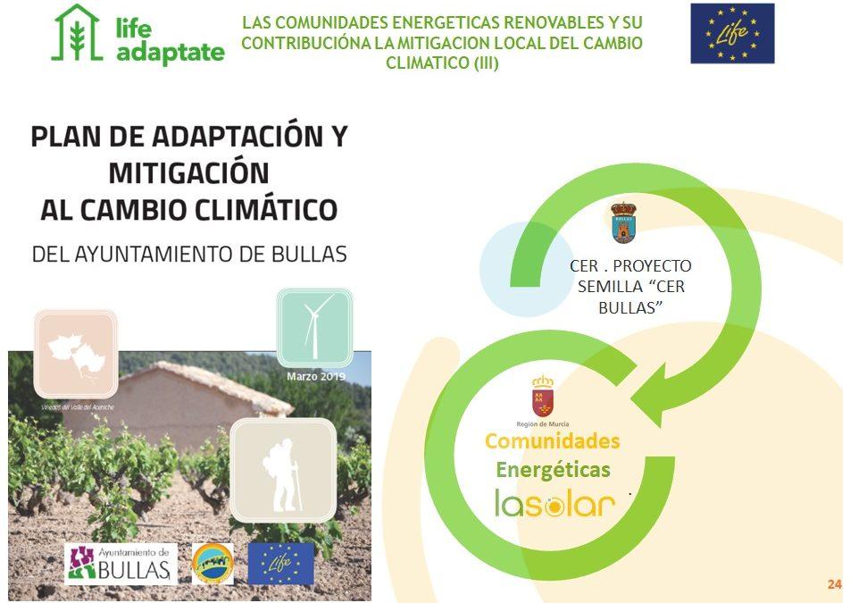SEMINARIO TÉCNICO: ACCIÓN CONTRA EL CAMBIO CLIMÁTICO: LAS COMUNIDADES ENERGÉTICAS RENOVABLES Y SU CONTRIBUCIÓN A LA MITIGACIÓN LOCAL DEL CAMBIO CLIMÁTICO.